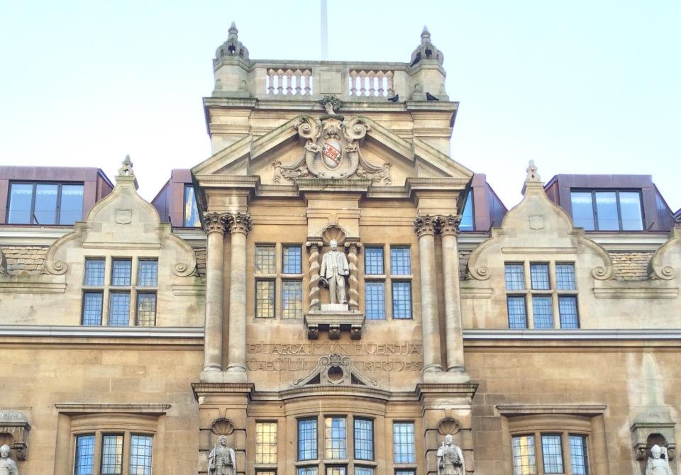 Oriel College Oxford High Street facade